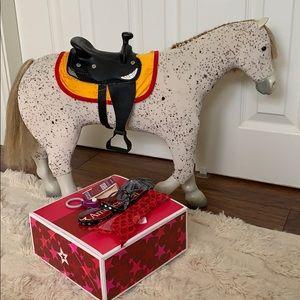 AUTHENTIC American Girl Saige's Horse & Saddle Set